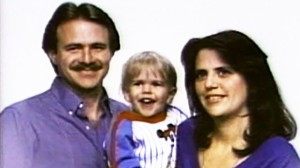 Michael Morton (left) pictured with his wife and son in the 1980's. Morton was wrongfully convicted and spent nearly 25 years in prison before DNA evidence proved his innocence.